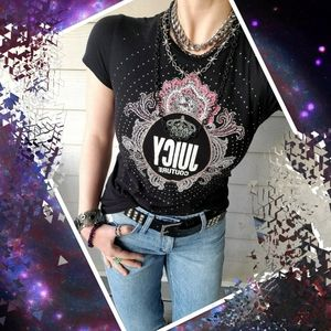 Juicy Couture Crown Diamond-studded Graphic Tee